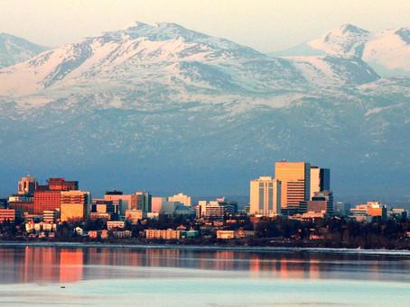 TESUP Wind Turbine Atlas 2.0は、美しく寒いアラスカのアンカレッジ市を旅しています。
