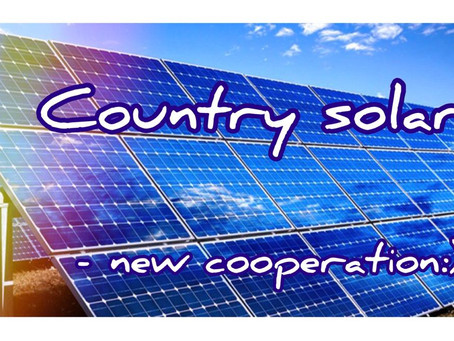 Country Solar and TESUP are friends now ! We are glad to new cooperation!
