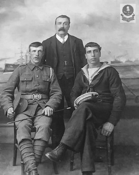 Unknown Crew Member, with possible family relations.  Army Regiment is also unknown.