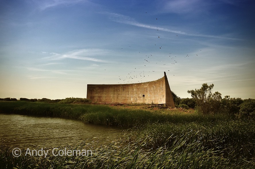 Amazing icons of early long range sound detection, situated on the remote Romney Marsh