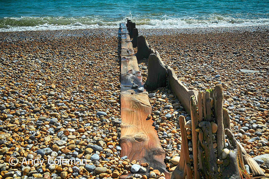 Timber on the beach at Wincelsea