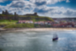 Whitby harbour and a Sailing Ship
