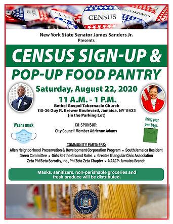 1596 Sanders Census Food Pantry Flyer (1