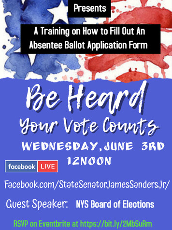 REVISED Absentee Ballot training event f