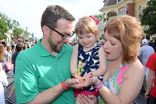 Zlatic Family at Disney Holding Tinkerbell