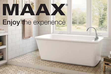 Maax tub and tub faucet