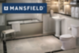 new Mansfield tub shower, bathoom sink, and toilet