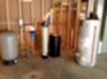 wate softner, water heater, holding tank