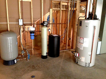 wate softner, water heater, holding tank