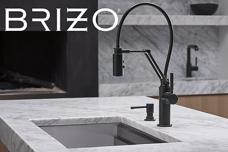 Brizo luxury kitchen sink and faucet
