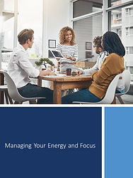 Managing Your Energy and Focus worksheet