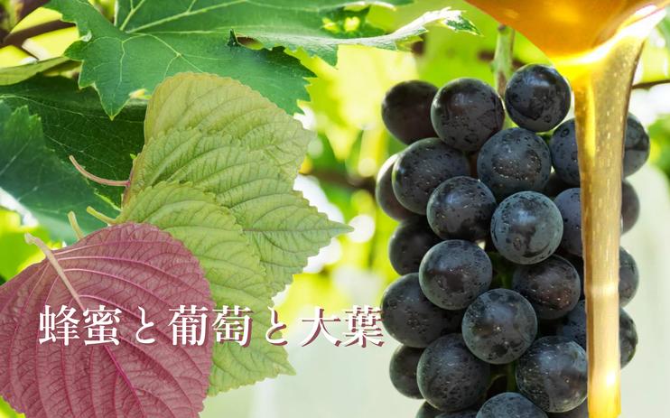 蜂蜜と葡萄と大葉