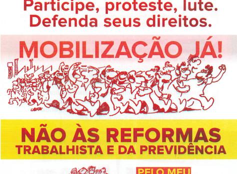 Participe, proteste, lute. Defenda seus direitos.
