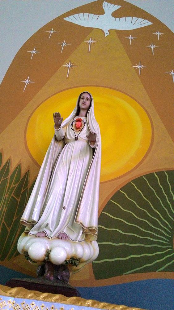 Painel fundo Nossa Senhora de Fátima