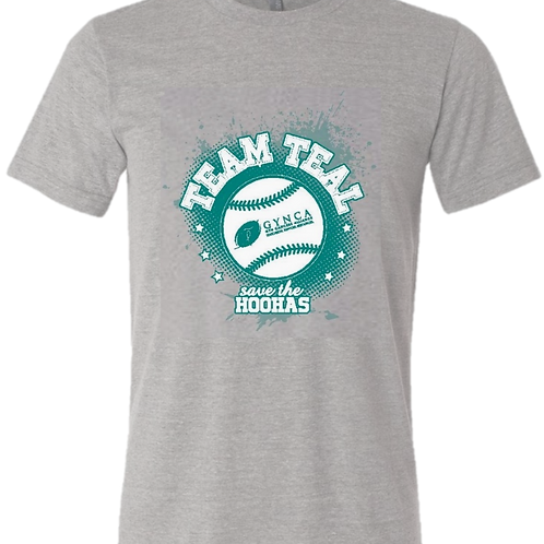 Team Teal Baseball Shirt - Large