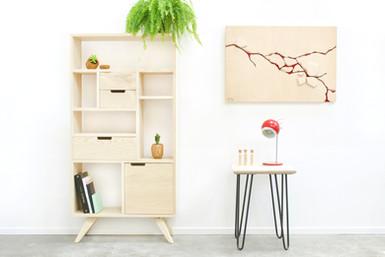 Meuble étagère tiroir Relief