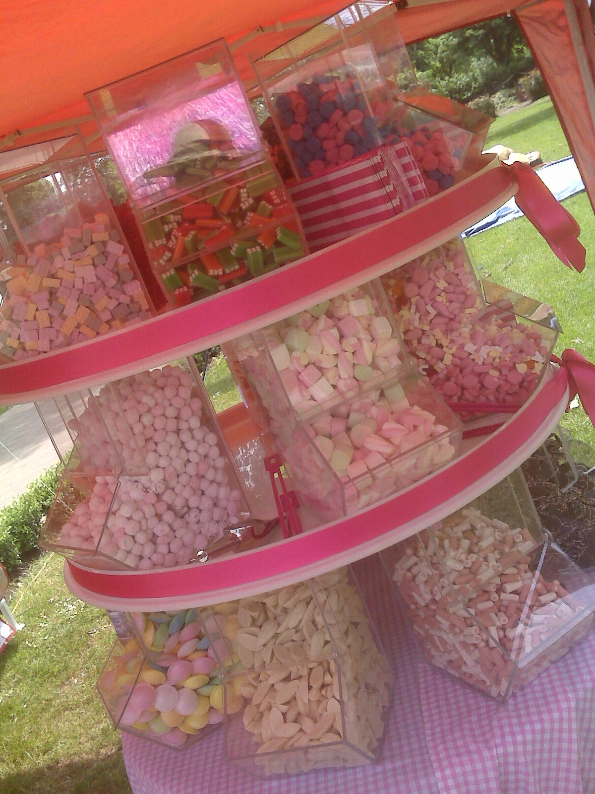 Pick and mix stand in pink