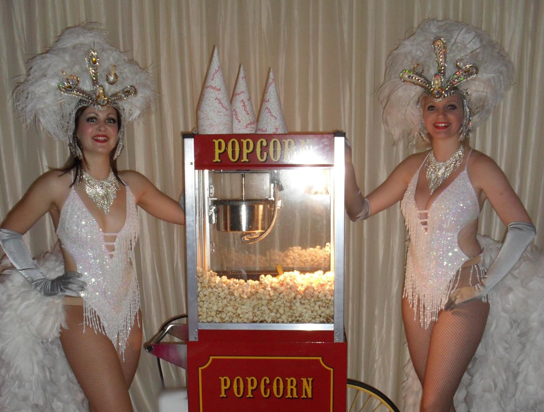 wedding popcorn usherettes