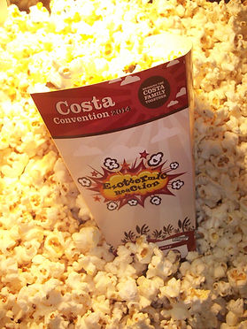 Custom printed popcorn boxes for your corporate events popcorn hire.