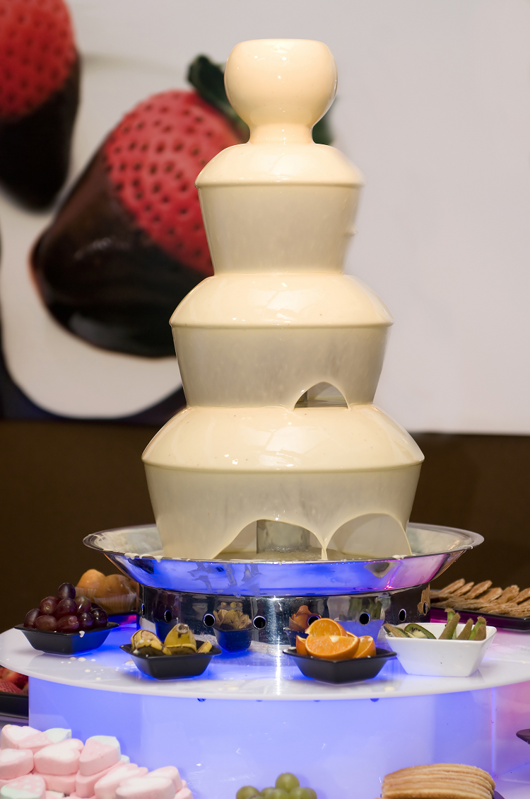 white chocolate fountain