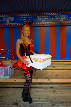 Usherette tray with vendor