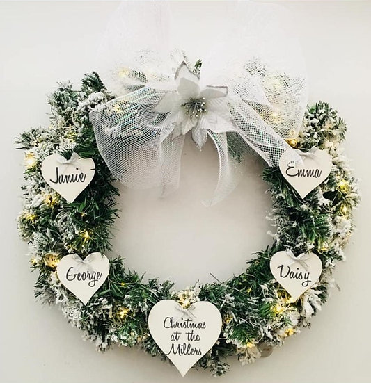 Customised Christmas Wreath