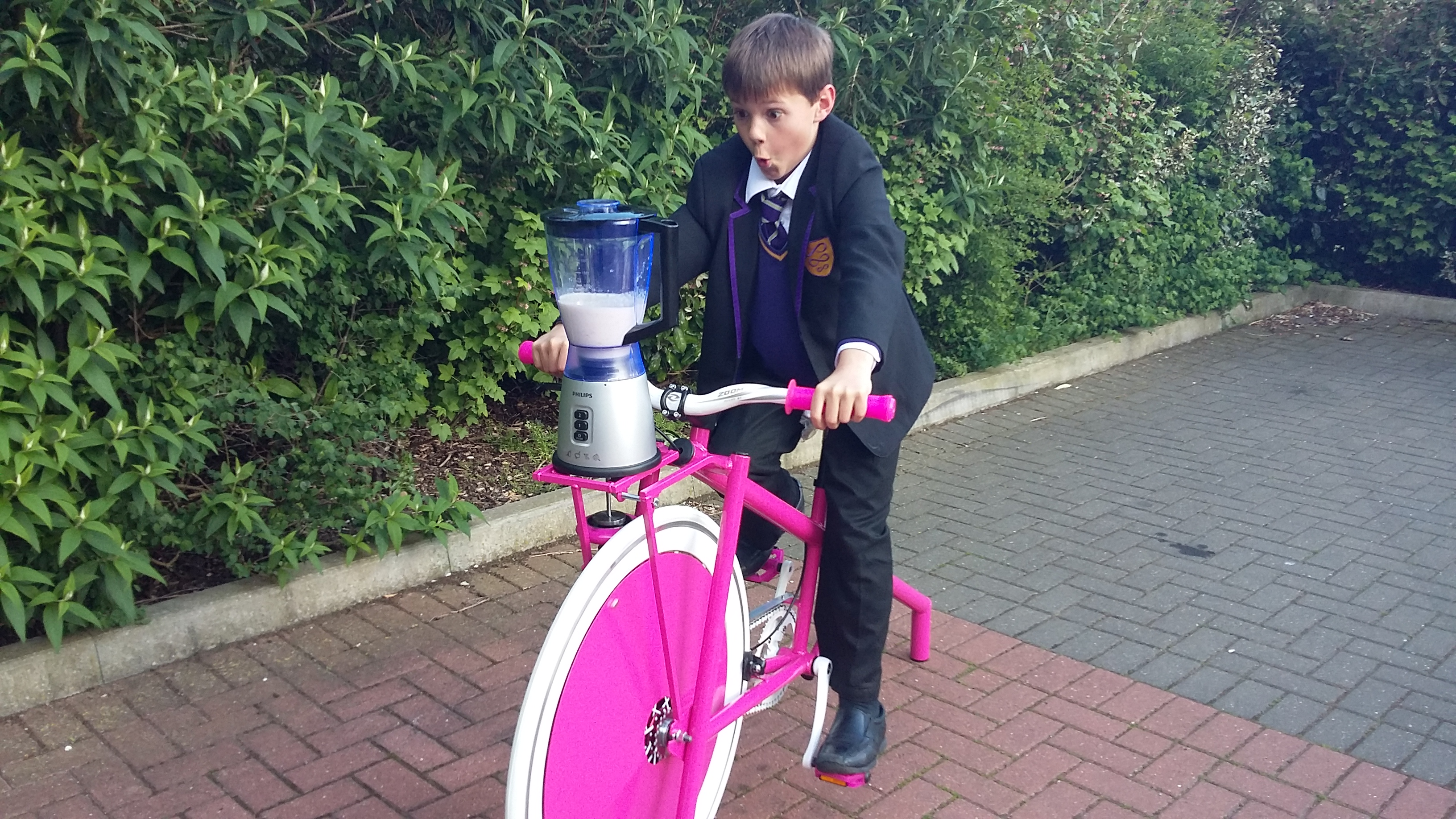 School Smoothie Bike