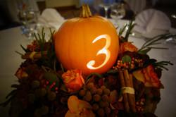 Pumpkin Autumnal table centres wedding.JPG