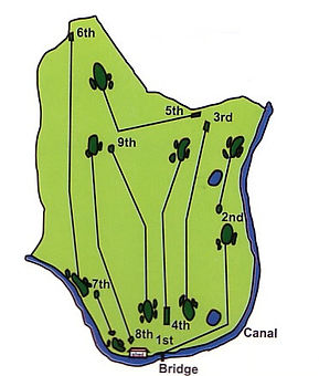 Ballinamore Golf Club Course layout illustarted.
