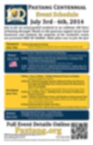 Centennial Events Schedule