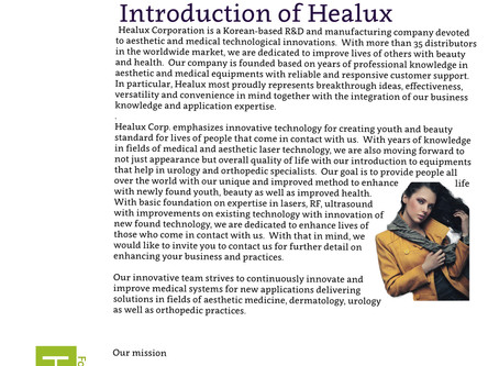 Introduction of Healux Corporation