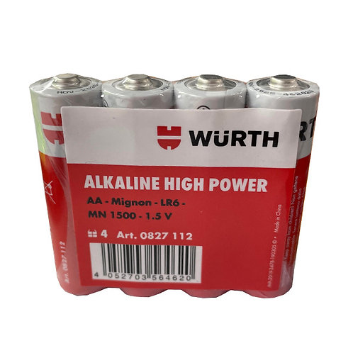 Pack Pilas Alcalinas Tipo AA Wurth