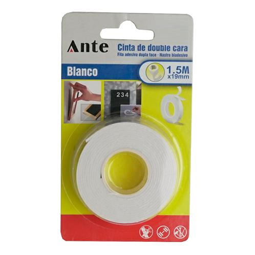 Cinta Adhesiva De Doble Cara Blanca 1.5mm Ante