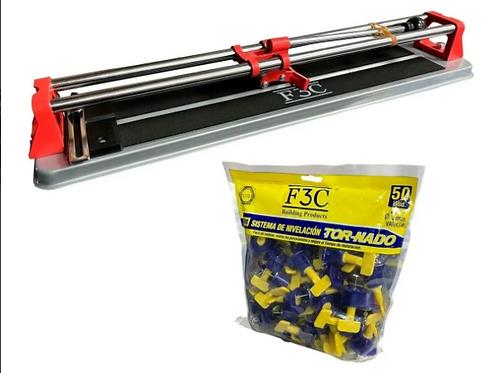 Kit Cortadora De Cerámica 50 Cm + Niveladores