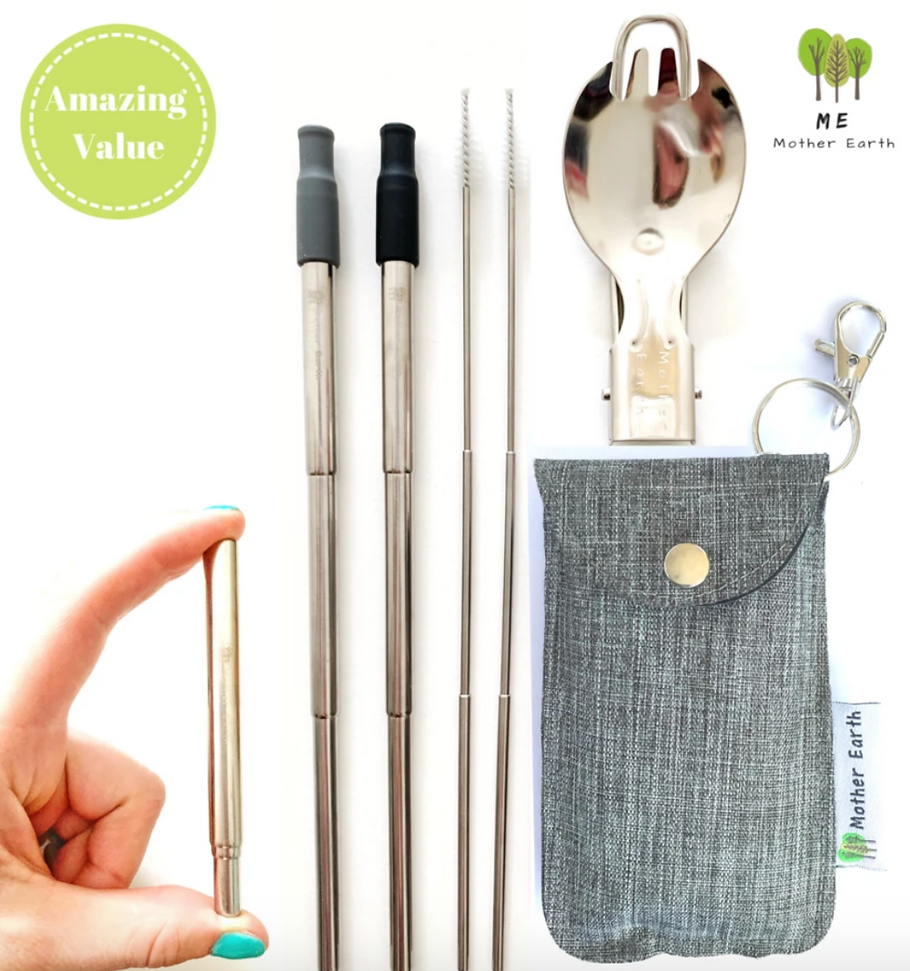 Me Mother Earth's Collapsible Straw + Spork Kit $14.99