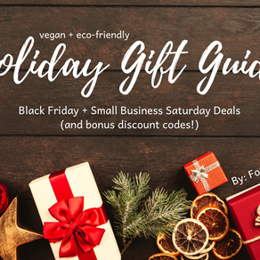 Vegan + Eco-Friendly Deals for Black Friday and Small Business Saturday