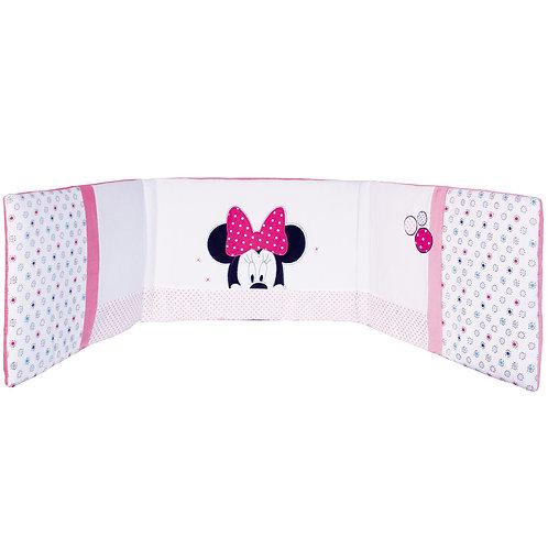 Tour de lit adaptable Disney Minnie Patchwork - 120 à 140 cm