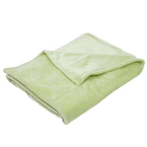 Couverture douce en flanelle 75x100 cm - Vert anis