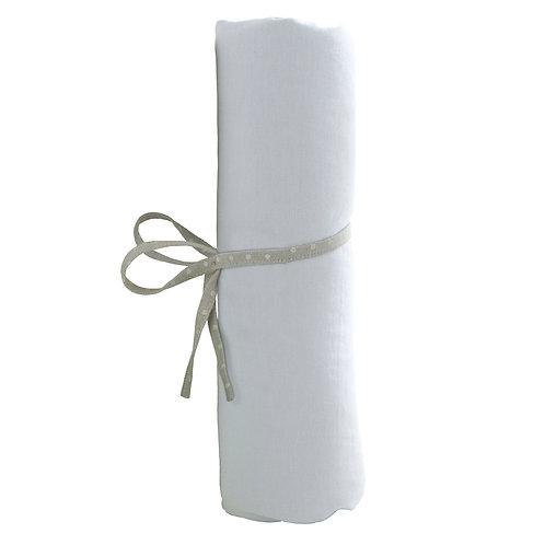 Drap housse uni 70x140cm - Blanc