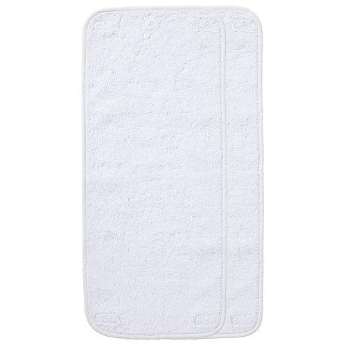 Lot de 2 serviettes à scratch pour matelas à langer Luxe - Blanc