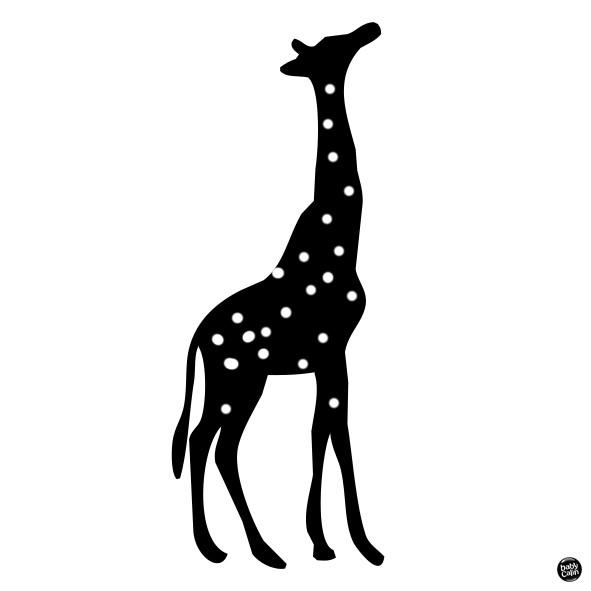 Carte contrastée gratuite girafe