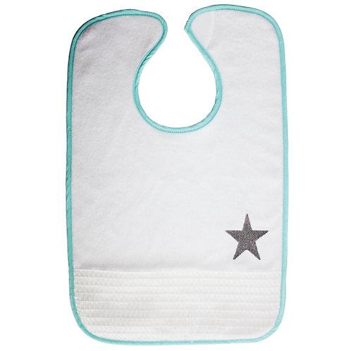 Bavoir large étoile bleu - 18 mois