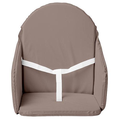 Coussin de chaise haute en PVC avec sangles - Taupe