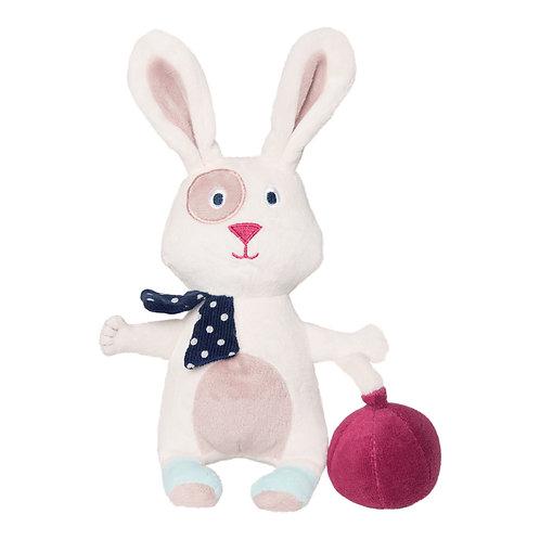 Peluche lapin Philotée et son ballon en velours - 25 cm