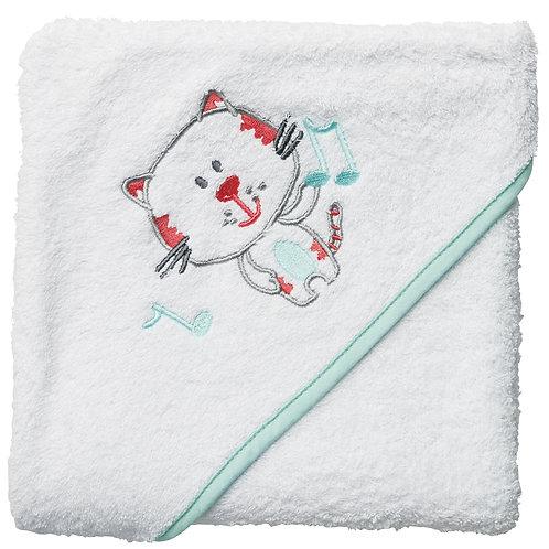 Cape de bain en éponge 80x80 cm - Chat