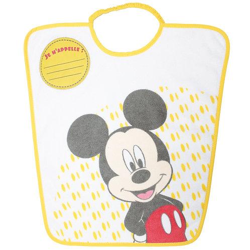 Bavoir maternelle avec étiquette Disney Mickey