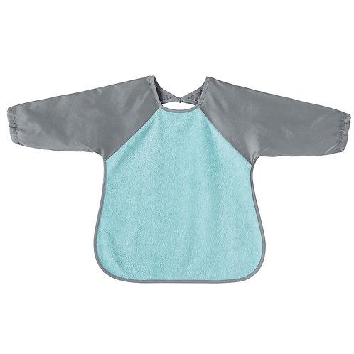 Bavoir tablier déperlant bleu et gris - 18 mois