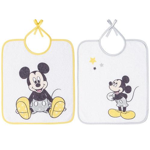 Lot de 2 bavoirs essentiels Disney Mickey - 6 mois