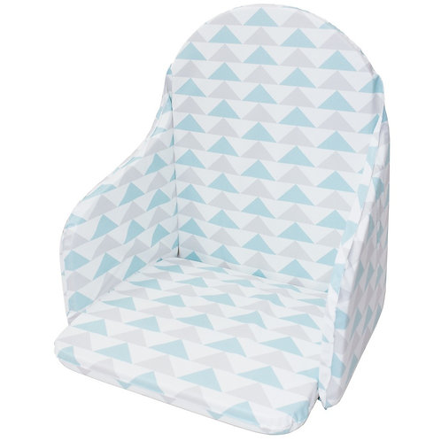 Coussin de chaise haute en PVC - Imprimé géométrique bleu
