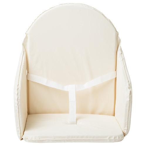 Coussin de chaise haute en PVC avec sangles - Écru